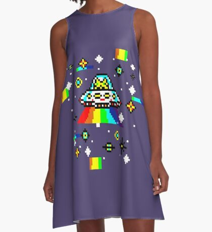 Cats invaders A-Line Dress