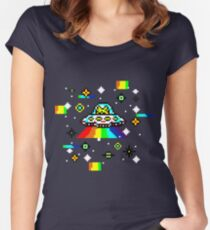 Cats invaders Women's Fitted Scoop T-Shirt