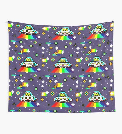 Cats invaders Wall Tapestry
