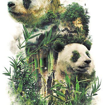 The Great Panda of China Nature Surrealism Painting by barrettbiggers