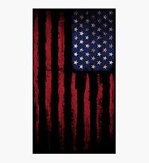 Patriotic American Flag stars and stripes Color Grunge Photographic Print