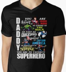 1daa5073 DADDY YOU ARE MY FAVORITE SUPER HERO T SHIRT V-Neck T-Shirt