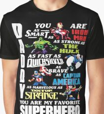 DADDY YOU ARE MY FAVORITE SUPER HERO T SHIRT Graphic T-Shirt