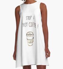 First COFEE!  A-Line Dress