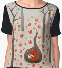 Sleeping Fox Women's Chiffon Top