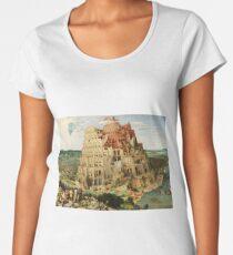 Pieter Bruegel the Elder - The Tower of Babel (1563) Women's Premium T-Shirt