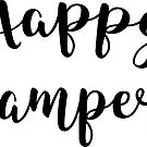 Happy Camper Typography Camping Camp Hiking Hike Outdoors  by MyHandmadeSigns