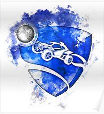 Rocket League Logo Painting Poster