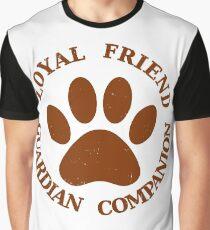 Dog Paw Loyal Friend Graphic T-Shirt