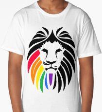 Rainbow Lion Head Long T-Shirt