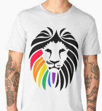 Rainbow Lion Head Men's Premium T-Shirt