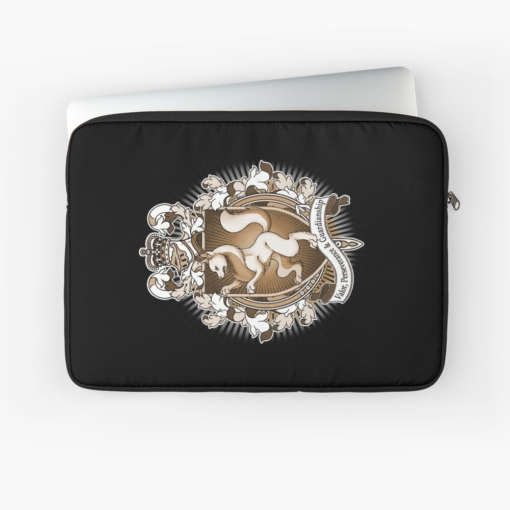 Wolf Coat Of Arms Heraldry Laptop Sleeve Front