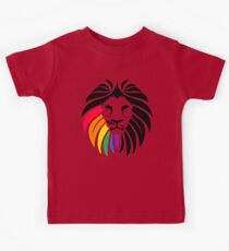 Rainbow Lion Head Kids Tee