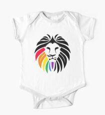 Rainbow Lion Head One Piece - Short Sleeve