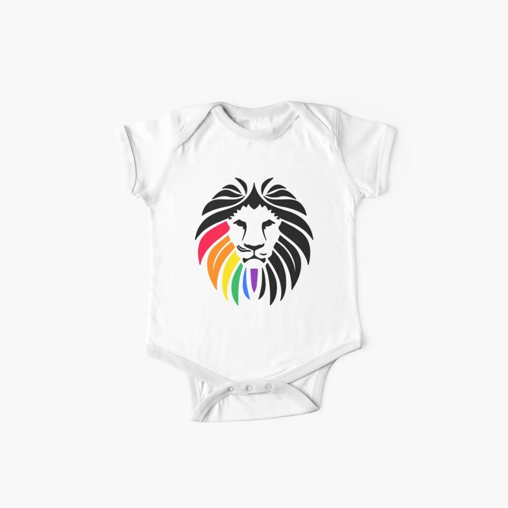 Regenbogen-Löwenkopf Baby Bodys