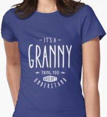 Granny Thing Womens Fitted T-Shirt