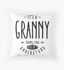 Granny Thing Throw Pillow