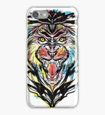 stencil lion iPhone Case/Skin