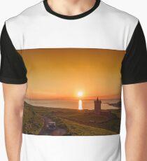 Doonagore Castle Sunset, Doolin, County Clare, Ireland  Graphic T-Shirt