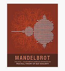 Science Posters - Benoit Mandelbrot - Mathematician Photographic Print