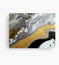 Gold River Abstract Painting, Wall Art, Home Decor Canvas Print
