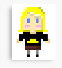 blond girl Canvas Print
