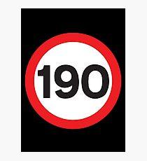 190 Max Speed Photographic Print