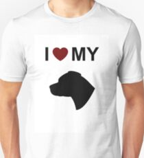 I Love My Staffordshire Bull Terrier Dog Silhouette Unisex T-Shirt