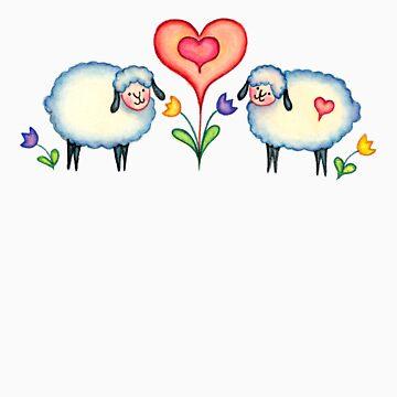 HEARTS & SHEEP by SHARON SHARPE by sharonsharpe