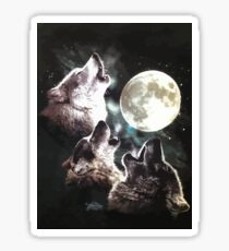 THREE WOLF Sticker