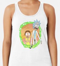 Rick and Morty a hundred years! Racerback Tank Top