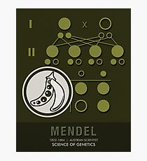 Science Posters - Gregor Mendel - Geneticist, Scientist Photographic Print