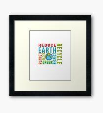 Recycle Earth Framed Print