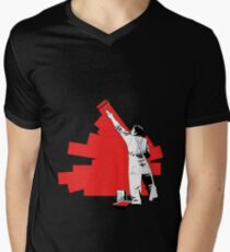 Renovate yourself - red Men's V-Neck T-Shirt