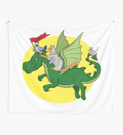 Off to adventure! Wall Tapestry