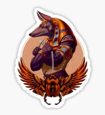 Awesome Anubis  Sticker