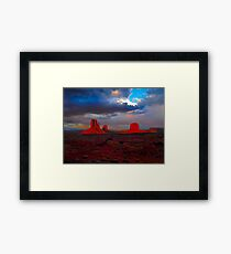 Monument Valley Mittens Framed Print