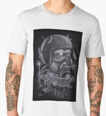 Biker on rural roads Men's Premium T-Shirt