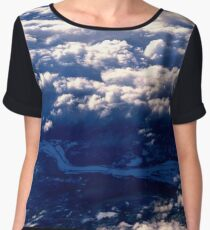 Above the clouds. The view from the plane Women's Chiffon Top