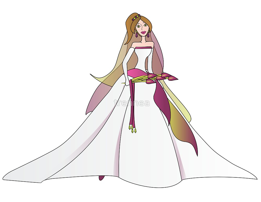 Amethyst and Peridot Bride by trennea
