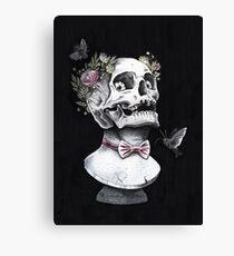 Skull bust Canvas Print