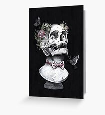 Skull bust Greeting Card