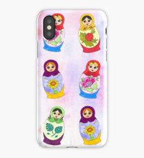 Adorable Russian Dolls iPhone Case/Skin