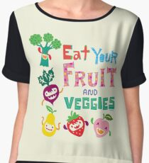 Eat Your Fruit & Veggies  Chiffon Top
