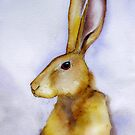 Henry - Portrait of a fine young hare by LesleyJaneNixon