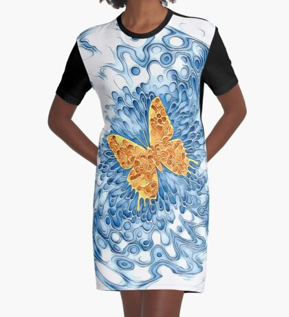 Butterfly Graphic T-Shirt Dress