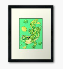 Lemon Lime Lizard Framed Print