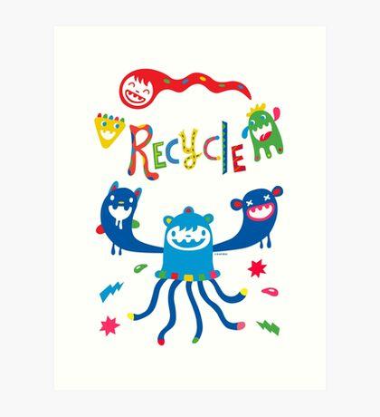 Recycle Monsters   Art Print