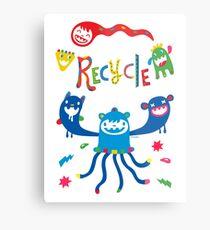 Recycle Monsters   Metal Print