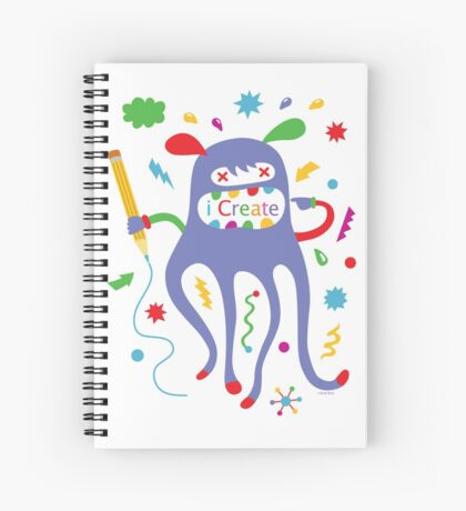 i create    Spiral Notebook